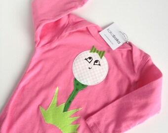 Pink Girl Golf One Piece Bodysuit Little Caddy