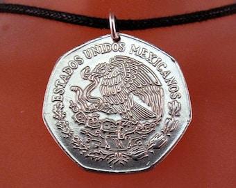 MEXICO gift. coin jewelry. mexican necklace jewellery. peso. condor. bird coin. estados unidos mexicanos. choose year  No.001267