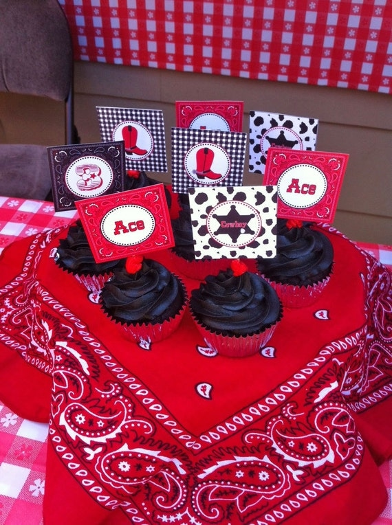 Diy Cowboy Birthday Party Printable Cupcake By Cupcakeexpress