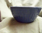Vintage Small Blue Pottery Bowl