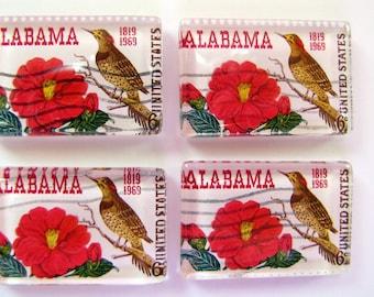 ALABAMA postage stamp magnet