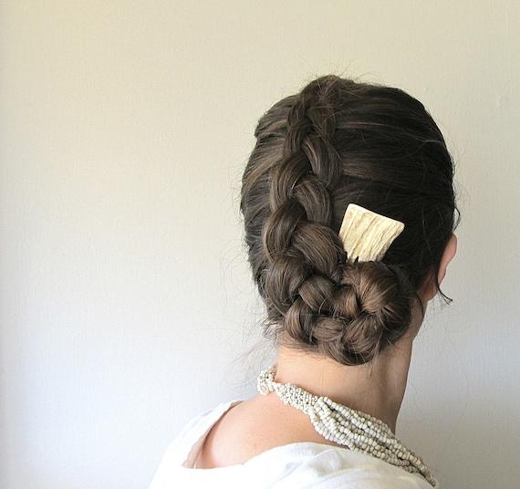 Elk Antler Hair Comb Primitive Carved Ethnic Horn Hair Accessory Ornament