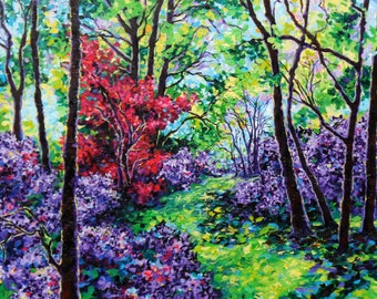 Swope Park Stroll - an Original Landscape Painting by Sara Larson Art