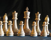 Chess Set Club sized Staunton Chess Set Hand turned   on Etsy custom chess sets, custom chess pieces, custom chess boards
