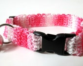 Adjustable Cat Collar Shades of Pink with Bell
