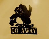 Buzzard, Vulture, Metal Art, Wall Decor, Southwest, Home, Office, Go Away, Welcome Sign