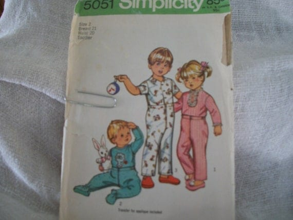 Simplicity Pattern 5051-SOLD/RESERVED for Yvonne