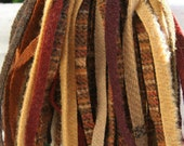 Autumn Rooster Grab Bag Mix - 100 Hand Cut Primitive Wool Strips