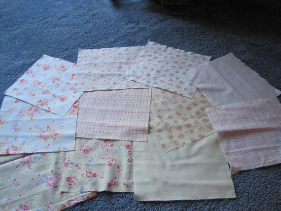 Quilt fabric, scraps, destash....shabby chic
