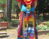 Rainbow Upcycled T-shirt pixie dress