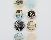 Note Worthy - Set of 8 Flair Buttons