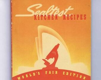 Antique Vintage Art Deco Sealtest Kitchen Recipes World's Fair Edition New York 1939 Sealtest Building Test Kitchen Cook Book