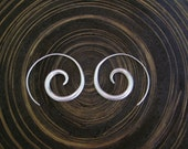 Silver Spiral Earrings - The Simplest One (4)