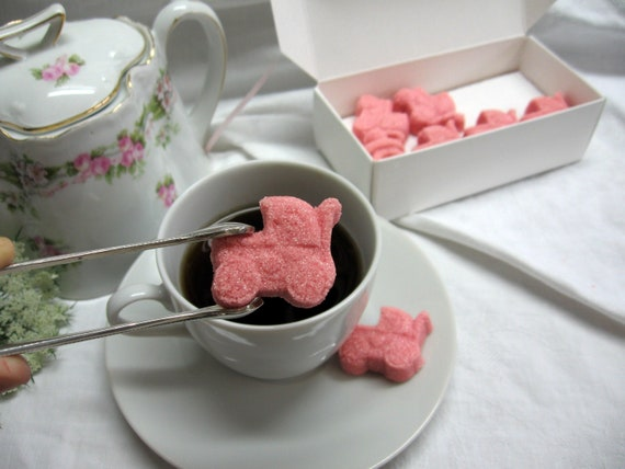 Dusty Pink Baby Buggie Shaped Sugar Cubes 1 Dozen Ready to Ship