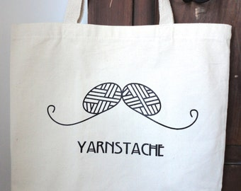 Yarnstache Knit or Crochet Project Bag