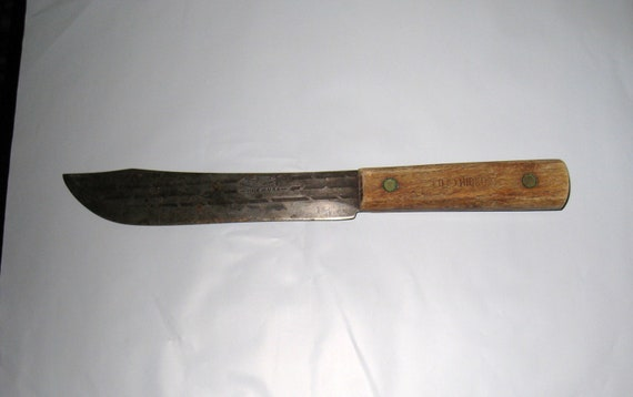 Vintage Old Hickory True Edge Ontario Knife Co Chef Butcher