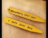 Father's Day Gift - Gift for Dad - BRASS COLLAR STAYS - A Daughter's First Love & A Son's First Hero
