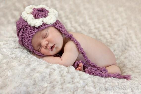 Baby Knit Hat - Baby Girl Knit Hat - Knit Newborn Hat - Baby Winter Hat