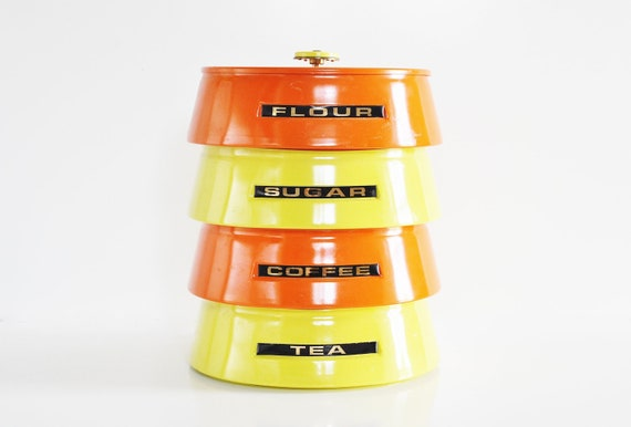 Retro Stacking Canisters