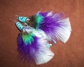 Feather Earrings- Whimsical Intentions- Short Feather Earrings- Ready to Ship