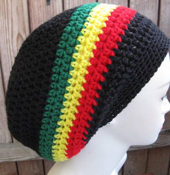 Jamaiquino negro rojo amarillo verde Crochet por WoolFashion