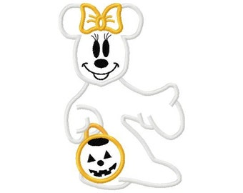 Minnie Ghost Tee Perfect for Mickey's Not So Scary Halloween Party at Disney World or Disneyland Tee Sizes 2 4 6 8 10