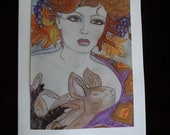 Autumn Goddess Greeting Card