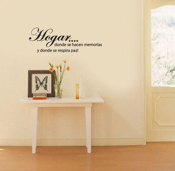 Wall Decal - Hogar   - Vinyl Wall Art Quote
