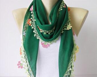 Turkish oya scarf,hand crocheted  lace scarf