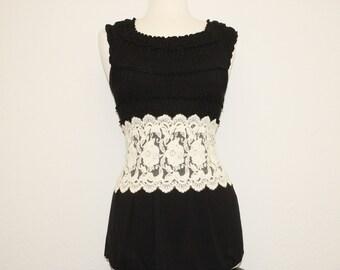 Wide Cotton Mesh Lace