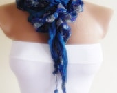 flowered pattern crimp scarf stylish scarf shawl gift for her christmas gift bridal