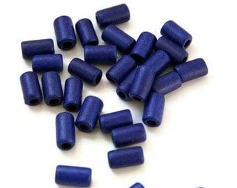 Blue Ceramic Tubes, Dark Blue Medium ceramic Tubes 11x6 mm 22pcs C 10 089