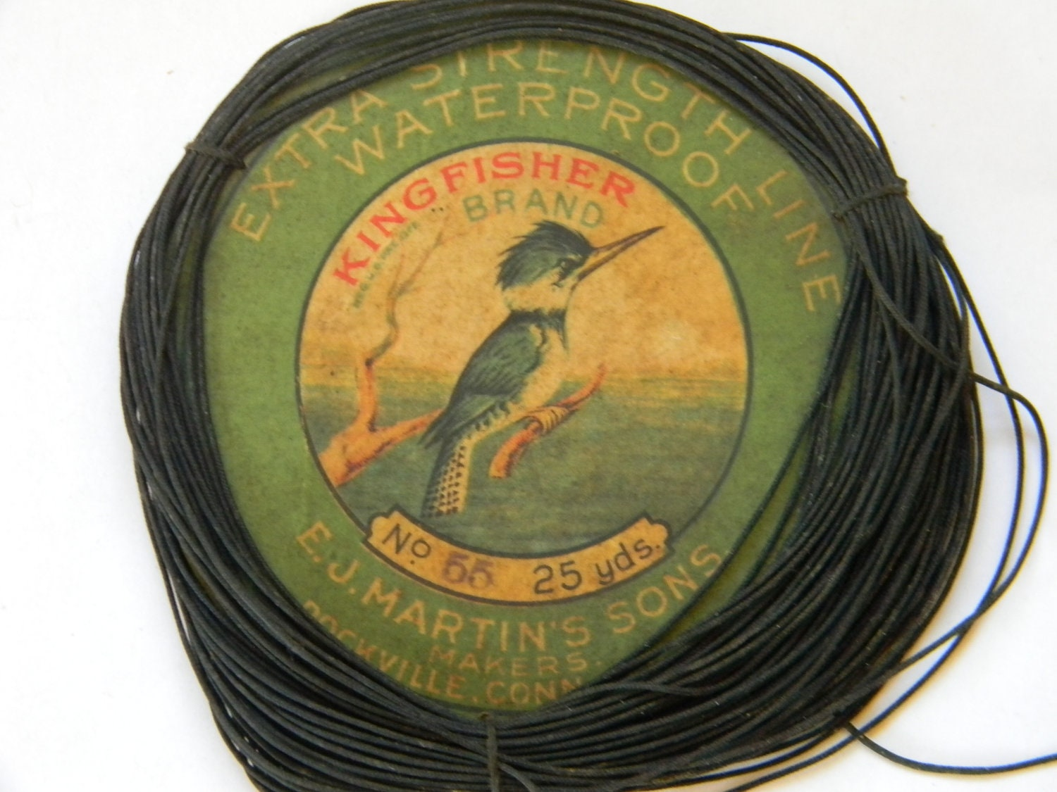 Vintage kingfisher brand fly fishing line for Fishing line brands