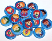 "Pool Party Floating Kids Set of 10 Buttons 1 Inch Pinback Buttons 1"" Pins or Magnets"