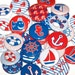 """Nautical Sailing Set of 10 Buttons 1 Inch Pinback Buttons 1"""" Pins or Magnets Anchor"""