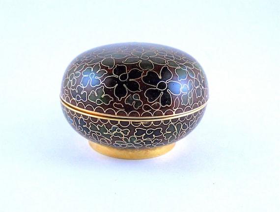 Cloisonne Treasure Keepsake Trinket vanity box
