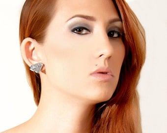Custom Diamond Earrings (laser cut acrylic)
