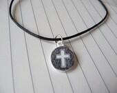 Circled Cross Friendship charm Bracelet