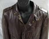 Vintage Oxblood Leather Jacket by Gino Leathers - Size 40