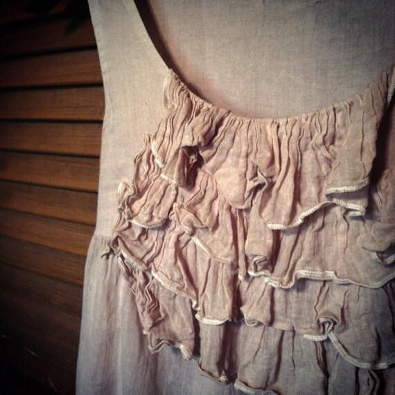Bohemian Shirt for Layering -- Hippie Gypsy Shabby