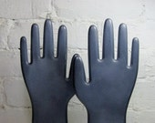 Vintage Glove Molds: Industrial Gray Pair of Hands