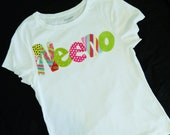 Girl, teen, adult tank or shirt with trendy, funky lime green, hot pink, polka dots - personalized with name