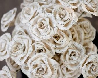 Two Dozen Hymnal Sheet Music Paper Roses