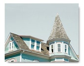 Architecture Photo,  Victorian House, Cape May Photo, blue, travel photography, jersey shore, cape may architecture, turquoise