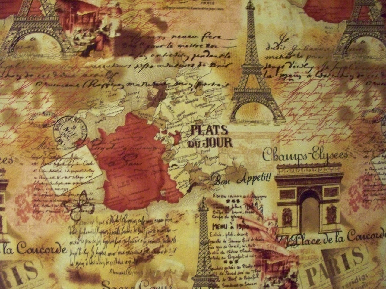 VIntage Paris Map Ei