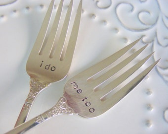 Wedding Forks I do Me too Wedding Cake forks