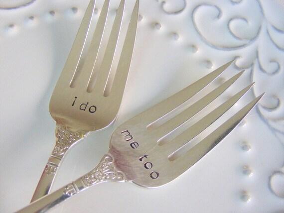 Wedding Forks I do Me too Wedding Cake forks