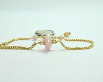 Initial Charm Bracelet for New Mom, Birthstone Jewelry