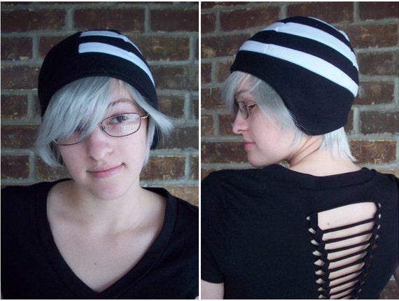 Death the Kid Soul Eater Hat - Adult-Teen-Kid - A winter, nerdy, geekery gift!