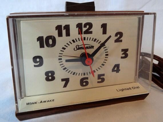 Vintage Sunbeam Wink-Awake Alarm Clock